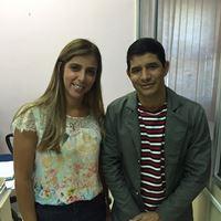 Ilnara e o vice-prefeito Alecrim