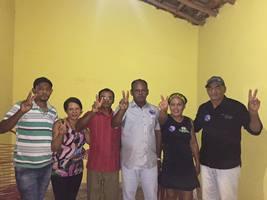 Carlinhos, professora Zena e família